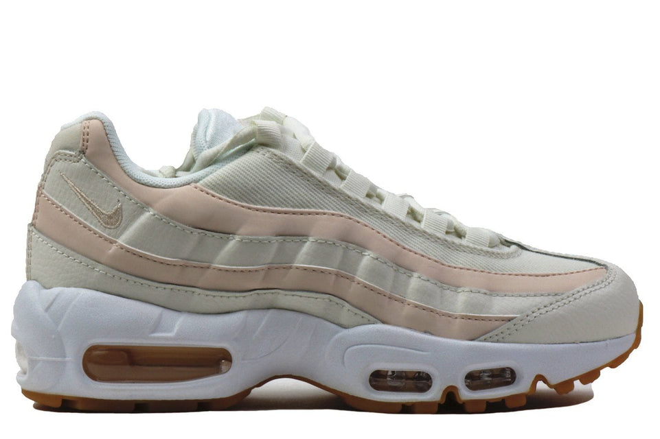 WMNS AIR MAX 95-307960-111 WOMENS FOOTWEAR NIKE SAIL/GUAVA ICE-GUM LIGHT BROWN-WHITE 5.5