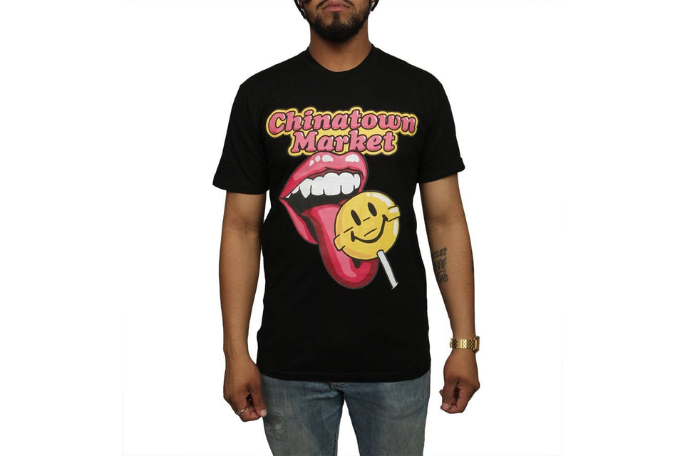 SMILEY LOLLIPOP T-SHIRT - CTMF19-LLSS MENS SOFTGOODS CHINATOWN MARKET