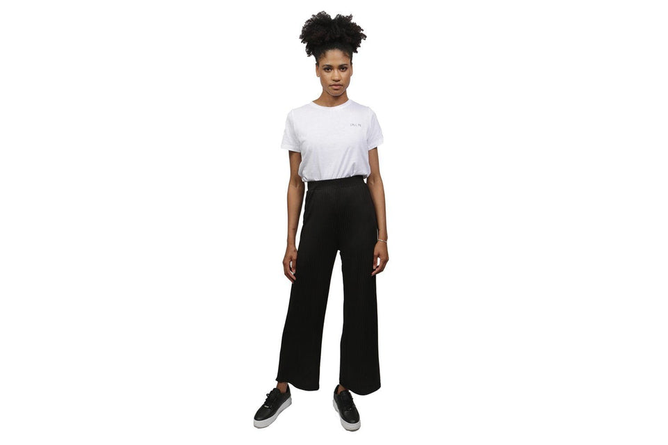 RIBBED PANTS WIDE - 000822 WOMENS SOFTGOODS NAKD