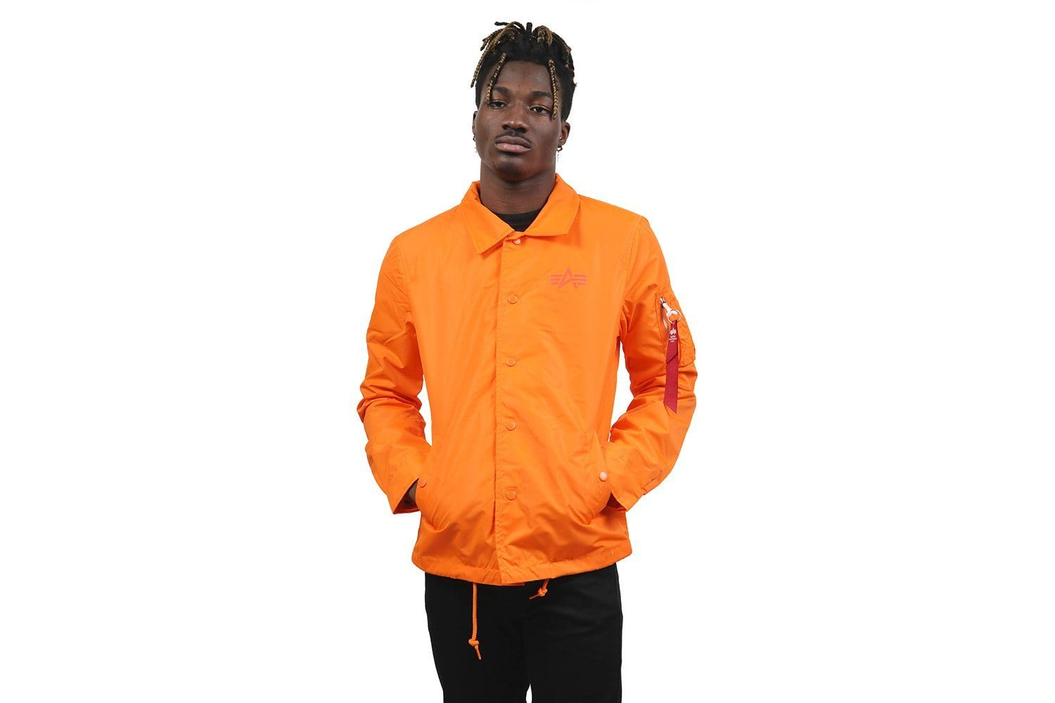 LIGHTWEIGHT COACHES JACKET - MJL49000C1.819 MENS SOFTGOODS ALPHA INDUSTRIES EMERGENCY ORANGE S