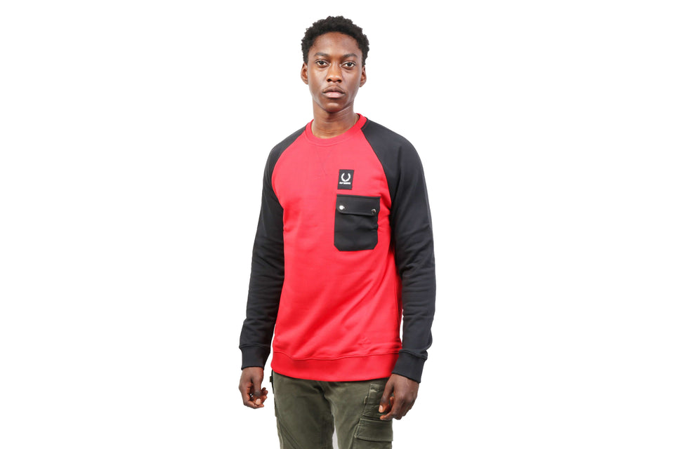 RAF SIMONS COLOUR BLOCK SWEAT- SM4111 MENS SOFTGOODS FRED PERRY