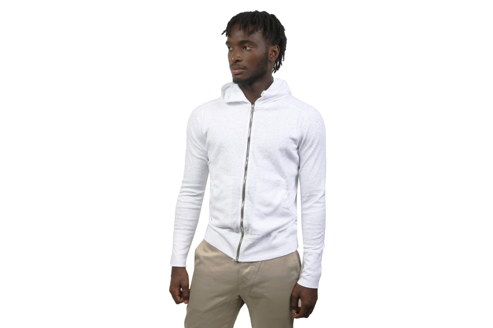 1X1 SLUB RIB ZIP FRONT HOODIE MENS SOFTGOODS WINGS+HORNS