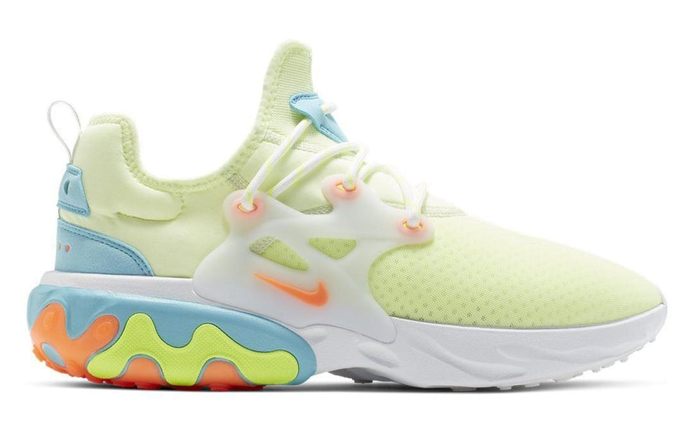 W REACT PRESTO - CD9015-700 WOMENS FOOTWEAR NIKE 5.5 BARELY VOLT/HYPER CRIMSON-BLUE GAZE-VOLT