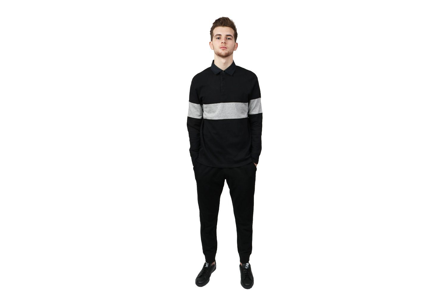 KNIT BRUSHED INTERLOCK RUGBY SHIRT - RC-2144 MENS SOFTGOODS REIGNING CHAMP