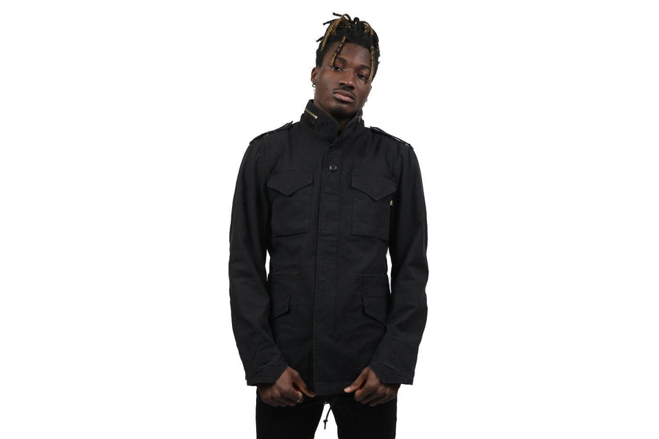 ALPHA M-65 DEFENDER JACKET MENS SOFTGOODS ALPHA INDUSTRIES BLACK S