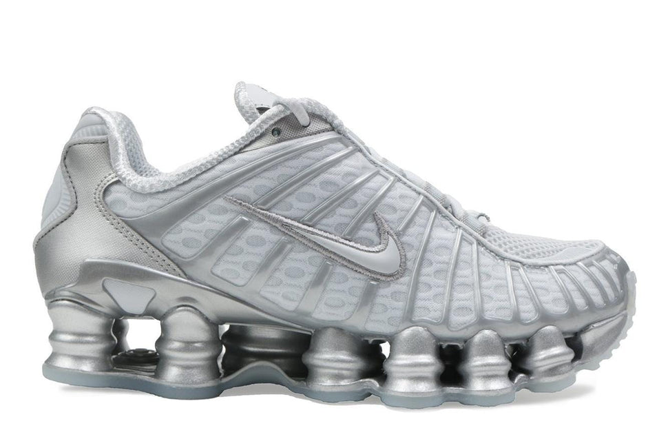 W NIKE SHOX TL - AR3566-003 WOMENS FOOTWEAR NIKE 5.5 PURE PLATINUM/CHROME