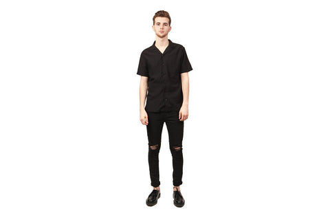 WOVEN COTTON TWILL DECK SHIRT - WI-8270 MENS SOFTGOODS WINGS+HORNS