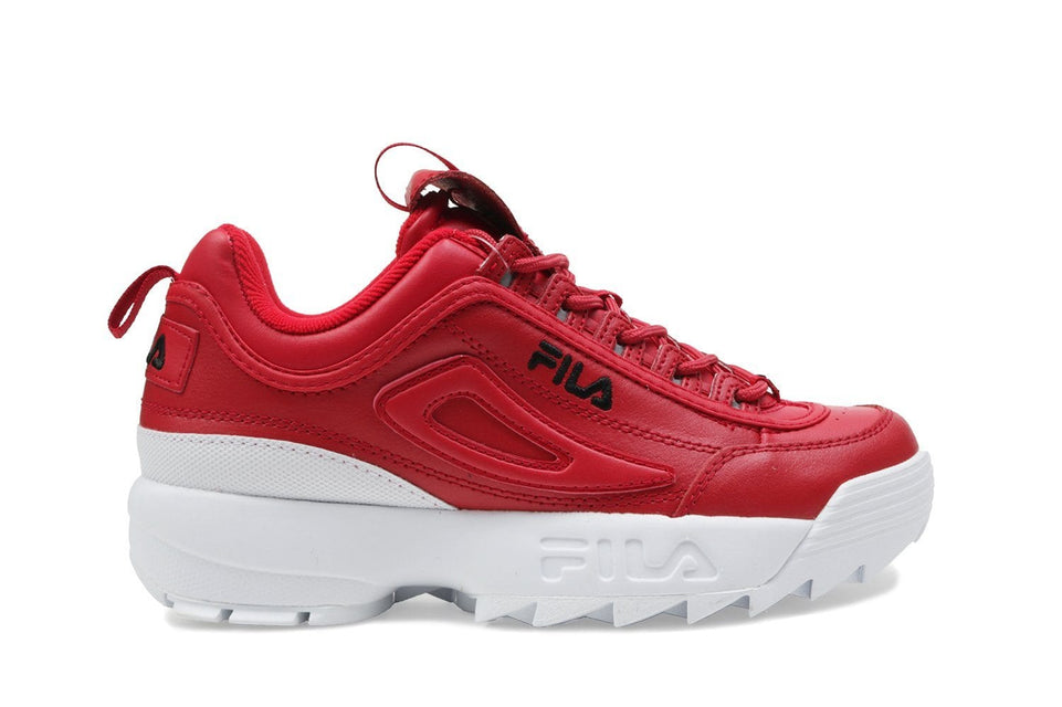 DISRUPTOR PREMIUM - 5FM00540-602 WOMENS FOOTWEAR FILA 6 FILA RED/BLACK/WHITE