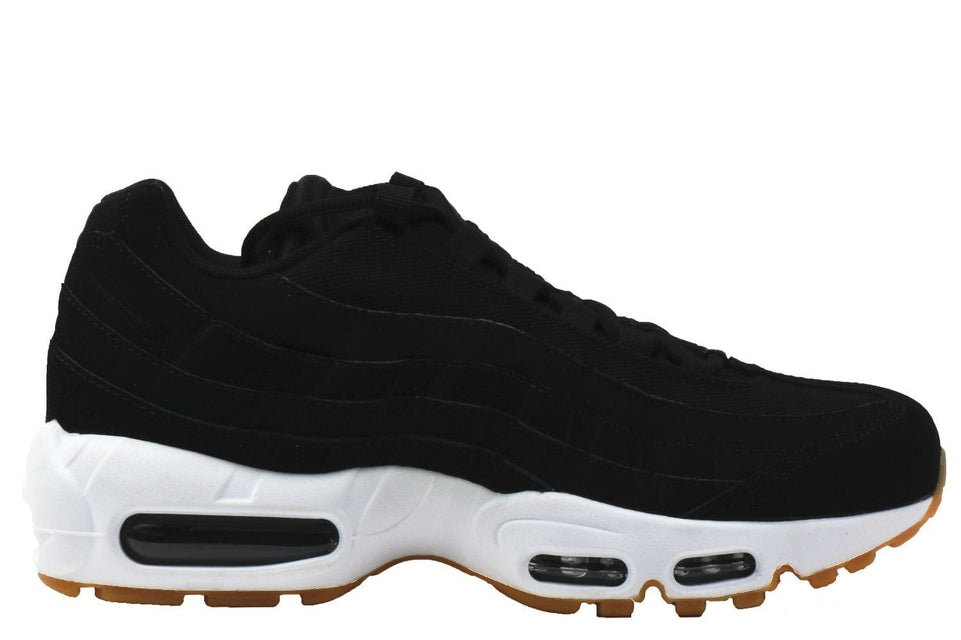 WMNS AIR MAX 95-307960-017 WOMENS FOOTWEAR NIKE BLACK/BLACK-ANTHRACITE-GUM LIGHT BROWN 5.5