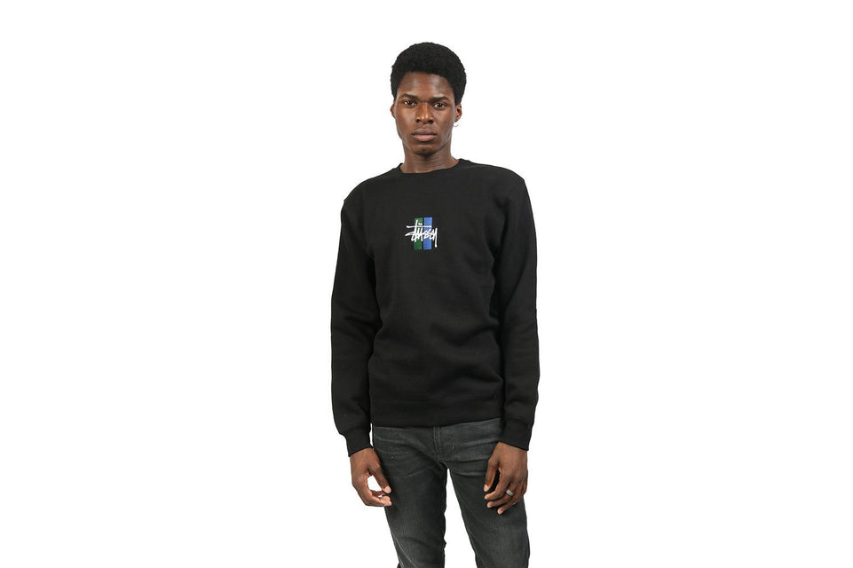 2 BAR STOCK APP CREW - 118316 MENS SOFTGOODS STUSSY