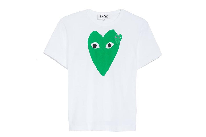 BIG GREEN HEART TEE - AZT060 MENS SOFTGOODS COMME DES GARCONS