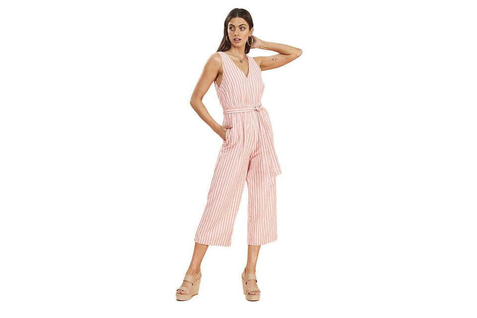 CHECK JUMPSUIT - IB19S2450 WOMENS SOFTGOODS MINK PINK