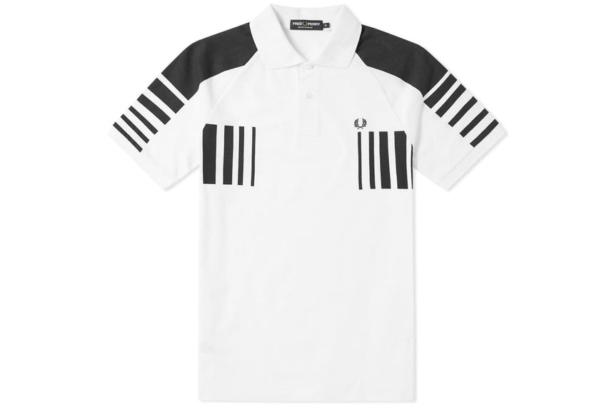 BLOCK GRAPHIC PIQUE SHIRT - M3586 MENS SOFTGOODS FRED PERRY WHITE M M3586