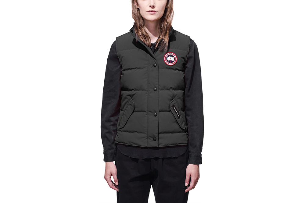 LADIES FREESTYLE VEST GRAPHITE WOMENS SOFTGOODS CANADA GOOSE
