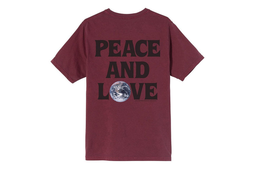 PEACE & LOVE PIG. DYED TEE - 2903098 WOMENS SOFTGOODS STUSSY