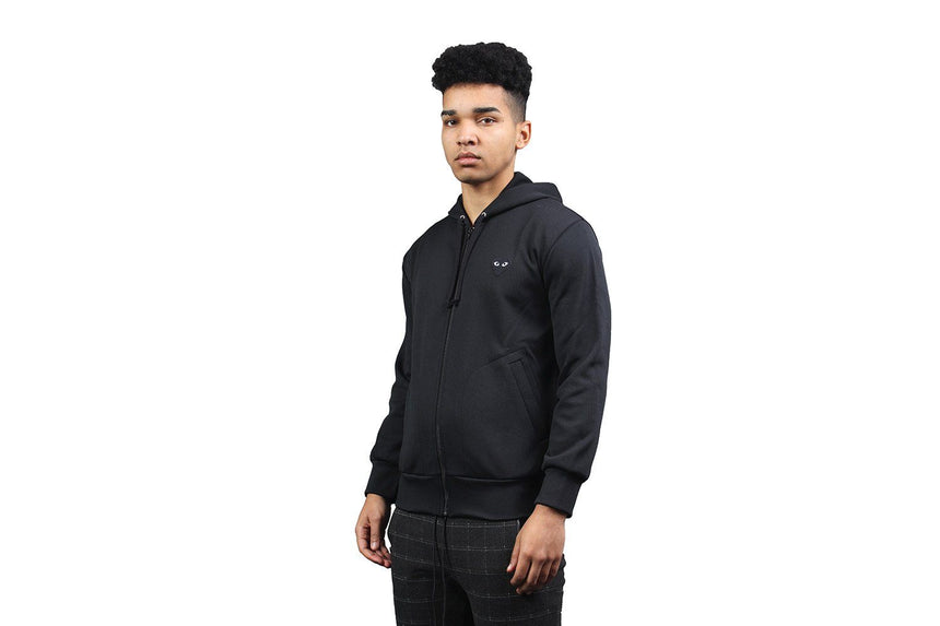 BLACK HEART BLACK ZIP HOODIE - AZT254 MENS SOFTGOODS COMME DES GARCONS