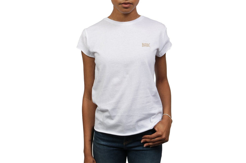 BABE BASIC TEE - 000943 WOMENS SOFTGOODS NAKD