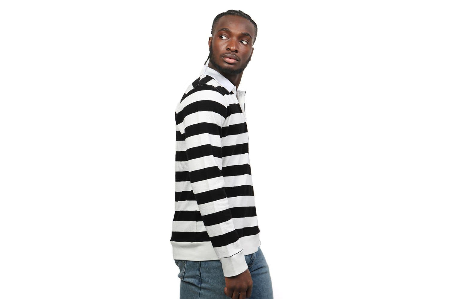 SANDERS STRIPE L/S TEE MENS SOFTGOODS SATURDAYS NYC