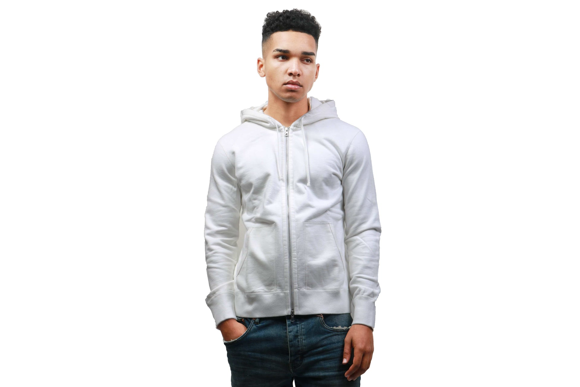 MEN'S KNIT MID WT TERRY FULL ZIP HOODIE-3205 MENS SOFTGOODS REIGNING CHAMP WINTER WHITE M