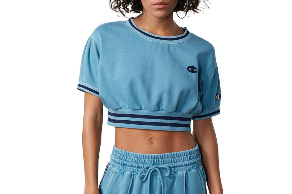 VINTAGE DYE FLEECE CROPPED CREW - WL456 WOMENS SOFTGOODS CHAMPION