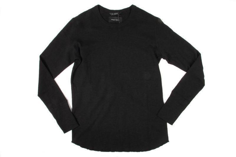1X1 SLUB RIB L/S CREWNECK MENS SOFTGOODS WINGS+HORNS BLACK XL