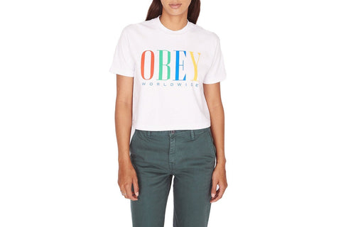 CHESS KING CROPPED TEE WOMENS SOFTGOODS OBEY