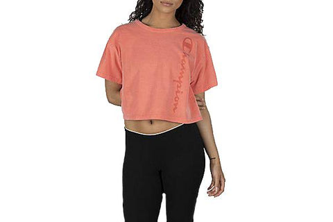 CROPPED TEE-GARMENT DYED - WL505G WOMENS SOFTGOODS CHAMPION