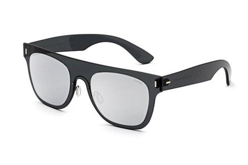 DUO-LENS FLAT TOP SILVER&BLACK SUNGLASSES SUPER SILVER/BLACK ONE SIZE