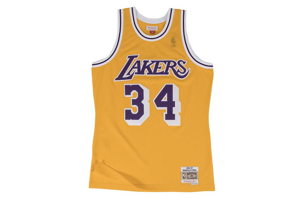 NBA LAKERS SHAQUILLE O'NEAL JERSEY MENS SOFTGOODS MITCHELL & NESS