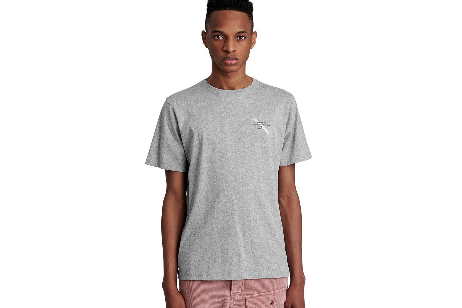 GOTHAM SLASH CHEST S/S TEE - M41929PT08 MENS SOFTGOODS SATURDAYS NYC