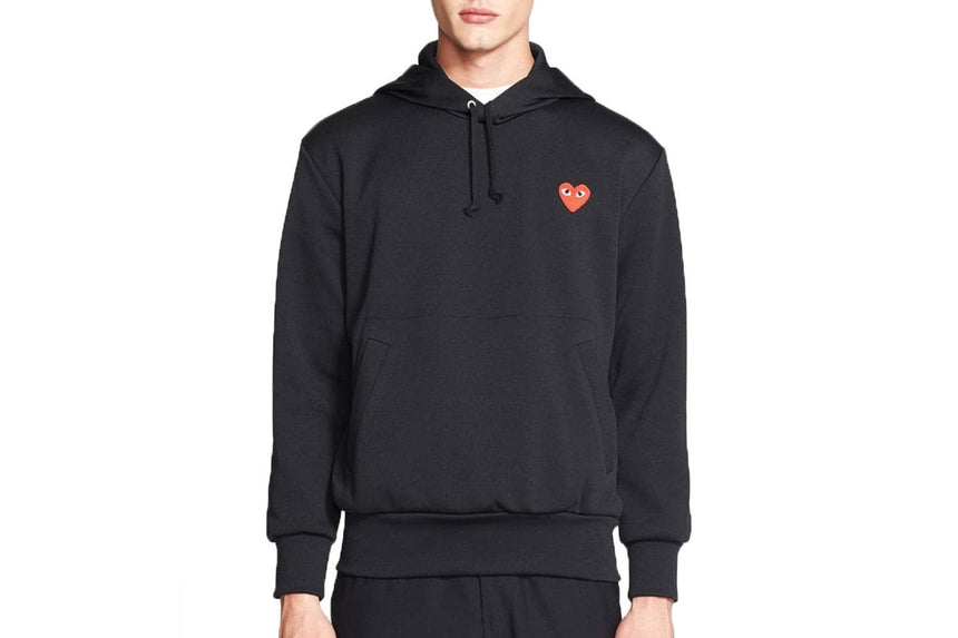 RED EMBLEM LIGHTWEIGHT HOODIE MENS SOFTGOODS COMME DES GARCONS