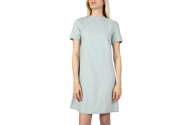 COLLAGE DRESS WOMENS SOFTGOODS CHEAP MONDAY PALE BLUE S