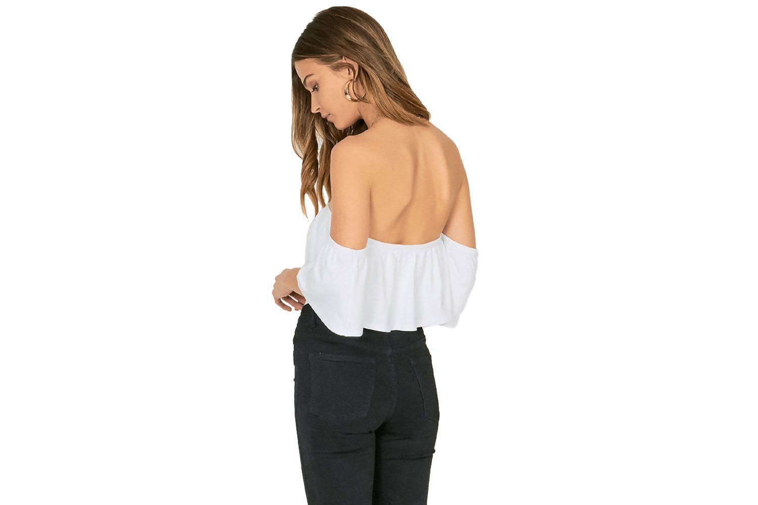 RUFFLE MY FEATHERS KNIT TOP WOMENS SOFTGOODS AMUSE SOCIETY