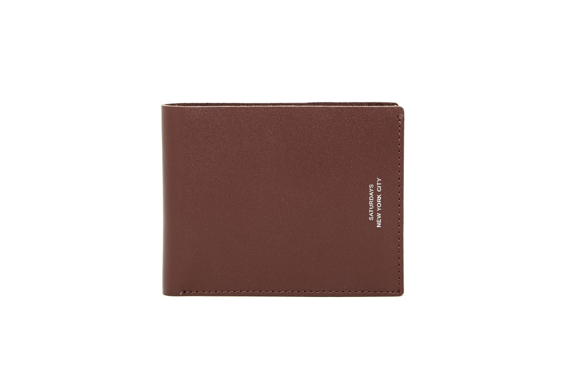 BI FOLD WALLET ACCESSORIES SATURDAYS NYC BROWN ONE SIZE