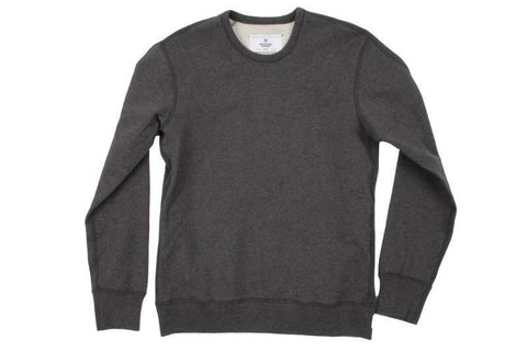 H.CHARCOAL MID WT TERRY LONG SLEEVE CREWNECK RC-3207