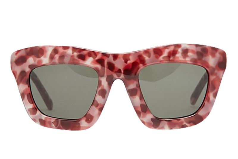 GLAM SUNGLASSES WOMENS SUNGLASSES CHEAP MONDAY BROWN TURTLE ONE SIZE