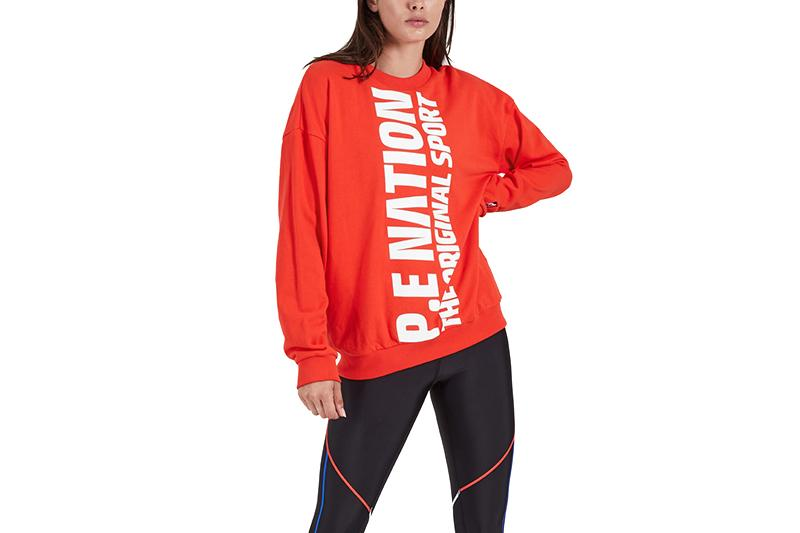 AMPED UP SWEAT CREW - 19PE1F085 WOMENS SOFTGOODS P.E NATION