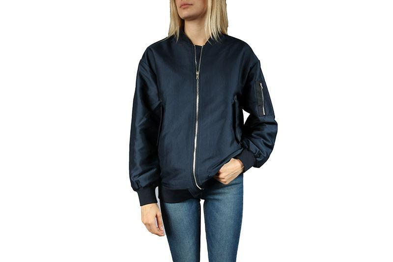 THEORY BOMBER WOMENS SOFTGOODS JUST FEMALE NAVY S