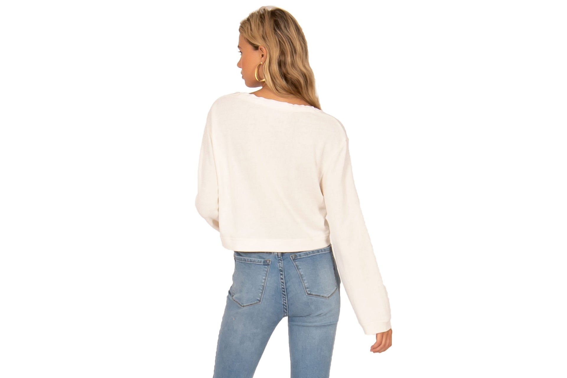 COCONUT GROVE CROPPED LS KNIT WOMENS SOFTGOODS AMUSE SOCIETY