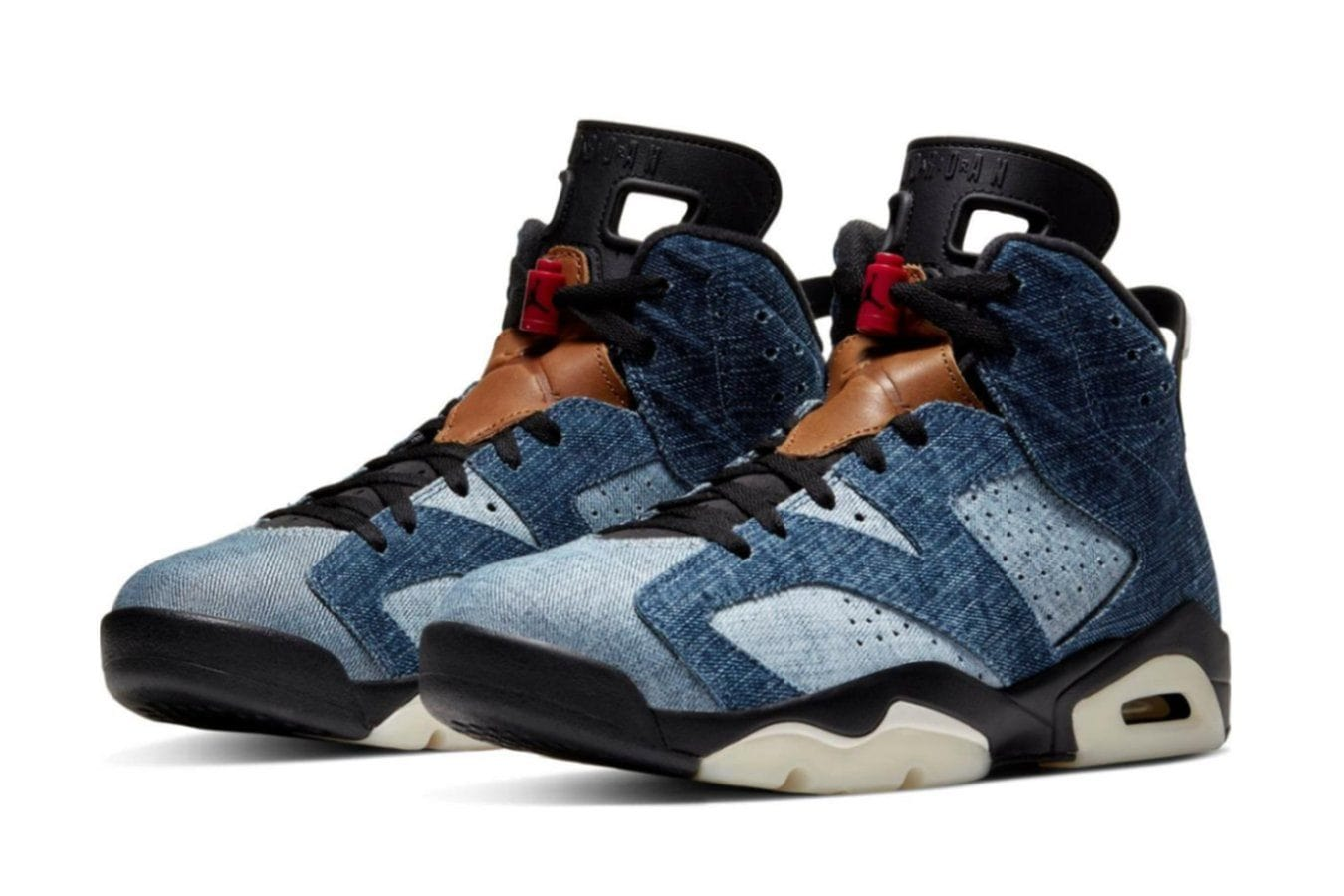 AIR JORDAN 6 RETRO 'WASHED DENIM' - CT5350 401 MENS FOOTWEAR BD