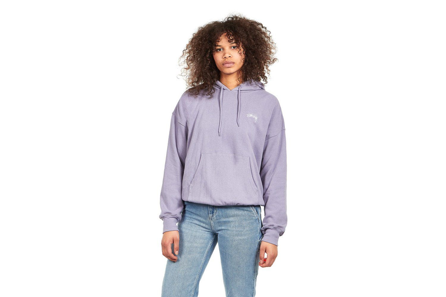 VIOLET FRENCH TERRY HOODIE WOMENS SOFTGOODS STUSSY LAVENDER XS
