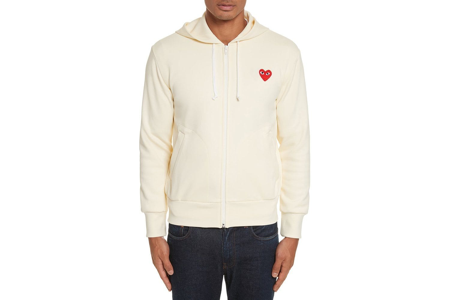 RED EMBLEM LT WEIGHT HOOD ZIP MENS SOFTGOODS COMME DES GARCONS