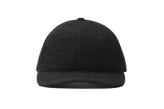 KNIT SHERPA WOOL 6-PANEL HAT HATS WINGS+HORNS BLACK ONE SIZE