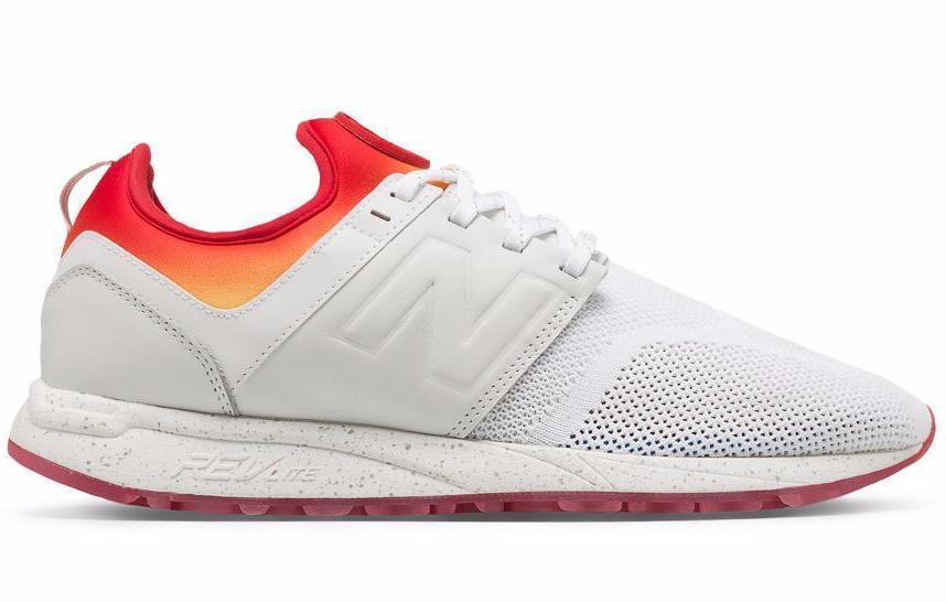 MRL247CO MENS FOOTWEAR NEW BALANCE WHITE/SUNSET 8