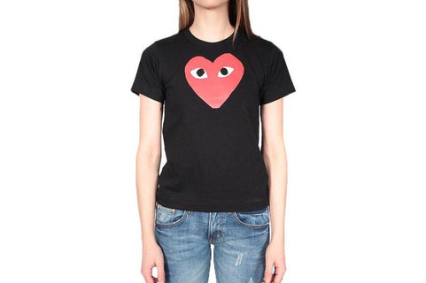 RED HEART BLACK TEE WOMENS SOFTGOODS COMME DES GARCONS BLACK S