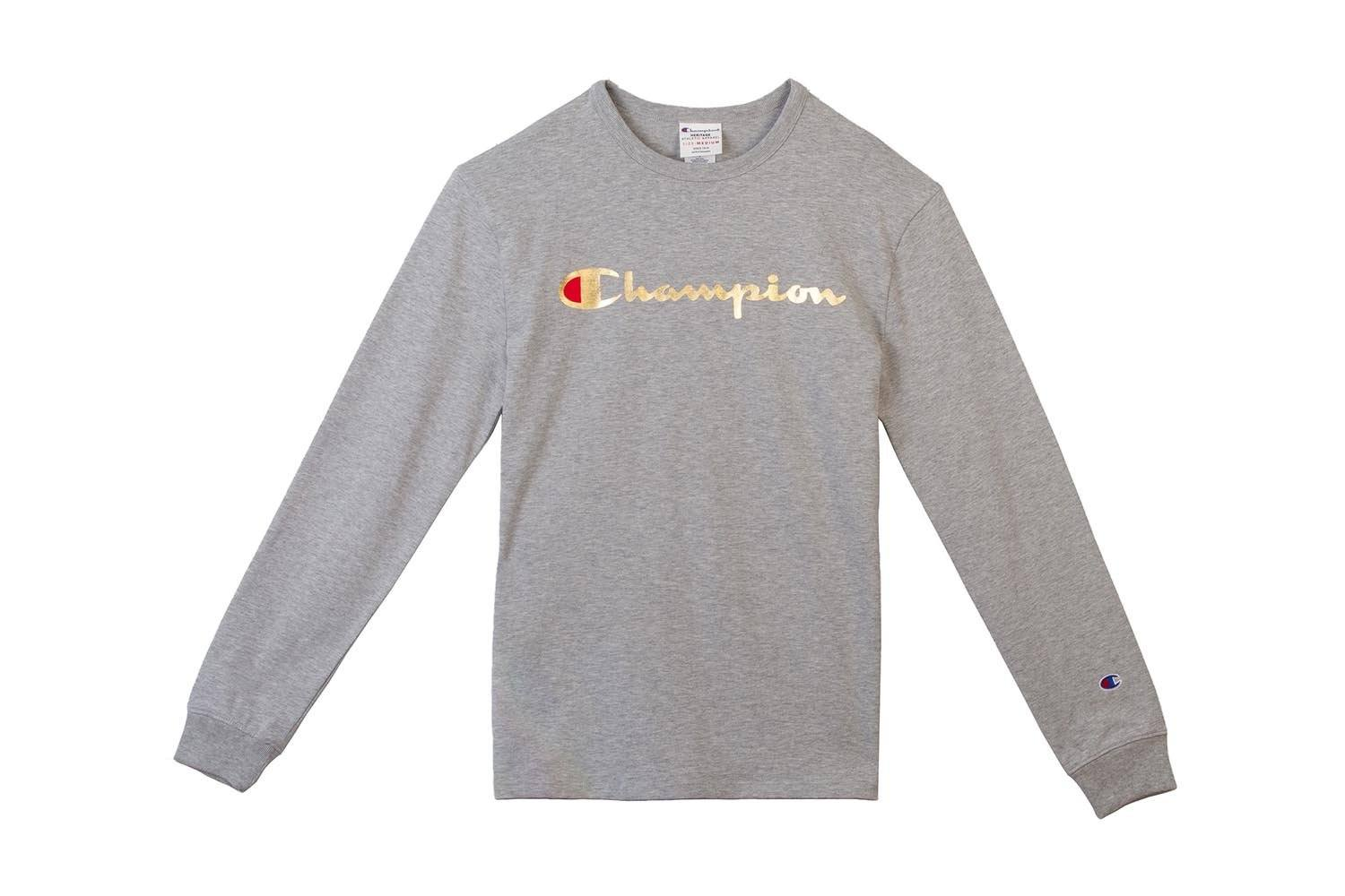 HERITAGE LS TEE-MULTI TECHNIQUE GRAPHIC - T3822 MENS SOFTGOODS CHAMPION