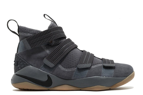 LEBRON SOLDIER XI SFG MENS FOOTWEAR NIKE DARK GREY BLACK CIRCUIT ORANGE 8.5 897646-003