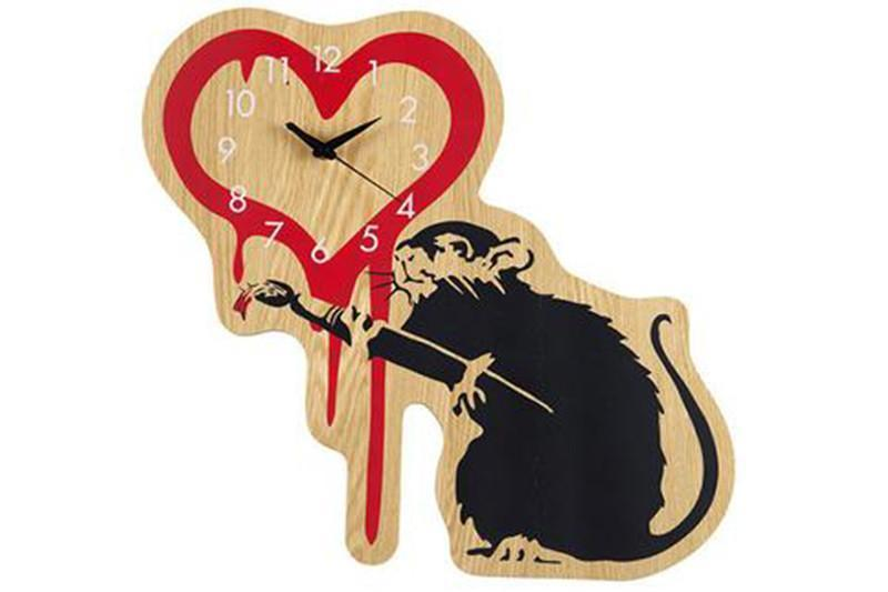 LOVE RAT X KARIMOKU CLOCK ACCESSORIES MEDICOM BLACK/WHITE/RED ONE SIZE