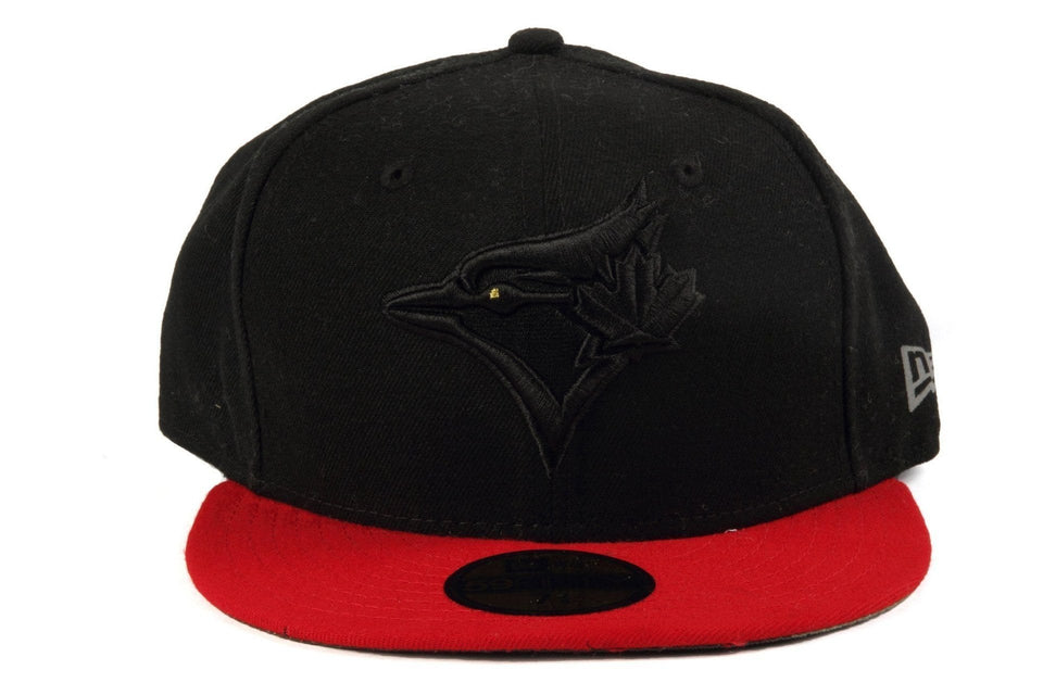 59/50 TORONTO BLUEJAYS DL16 STROMAN HATS NEW ERA BLACK/RED 7 1/4