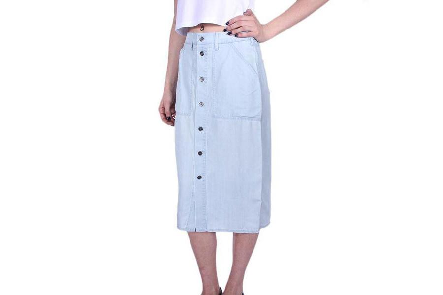 ST.GILLES SKIRT WOMENS SOFTGOODS OBEY CHAMBRAY 25